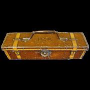 Circa 1912 Antique British Biscuit Tin, PENCIL BOX, Huntley & Palmers