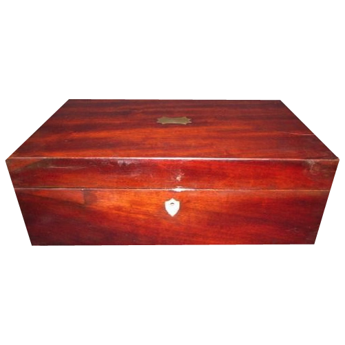 Lovely Large Antique Mahogany Slope Desk Box