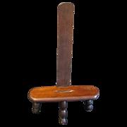 Most Unusual Wood Table-Top Easel, Three Turned Legs