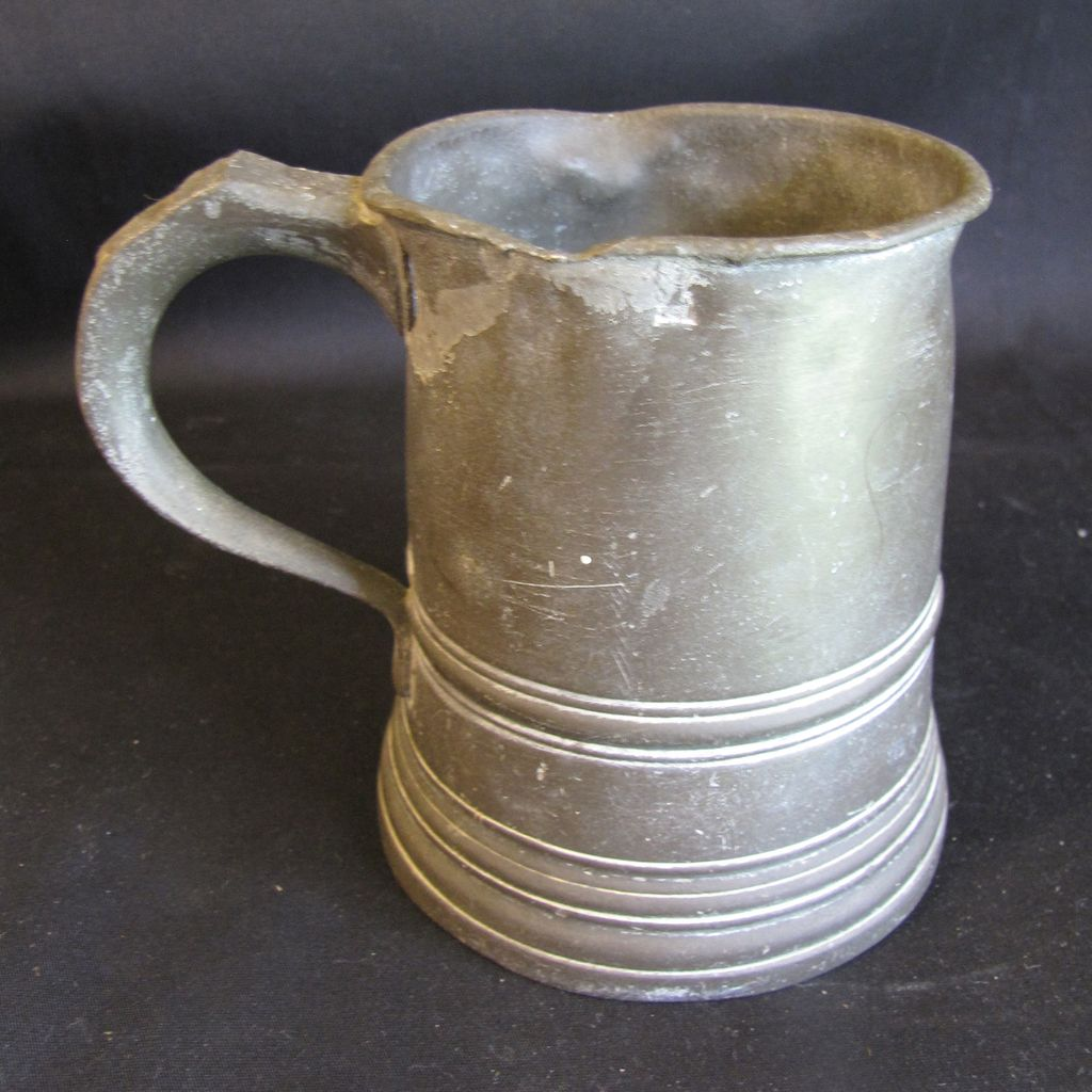 Early 19th Century Pint Pewter Measure, James Yates, Birmingham