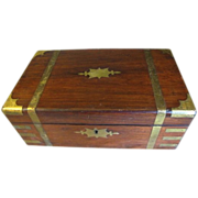 Lovely Antique Campaign Writing Box, Lap Desk