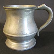 Vintage Pewter Measure, Gill, R. Davis, Old Kent Rd. 551