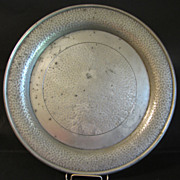 Large Hammered Pewter Plate, Unity Pewter England
