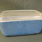 Vintage Glass Refrigerator Dish w/Lid, PYREX, Blue