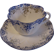 "Lovely Bone China Cup & Saucer Set, DAINTY BLUE"" by Shelley (6 avail)"