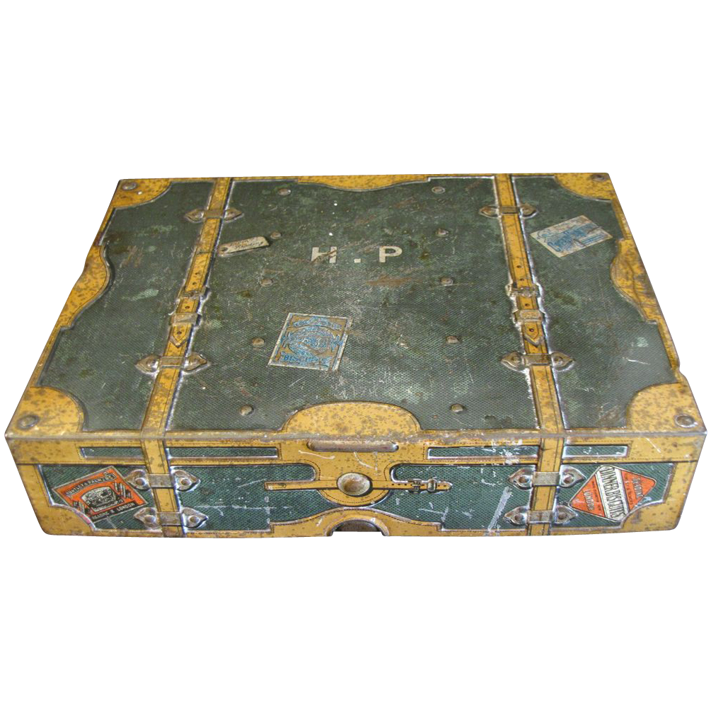 British Biscuit Tin, UNIVERSAL, Huntley & Palmers, C. 1900