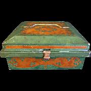 Antique British Biscuit Tin Huntley & Palmers 1905 Jewel Case