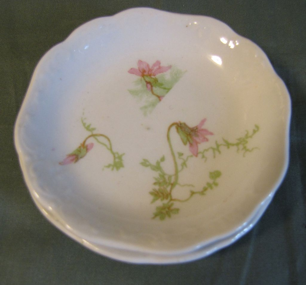 Lovely Johnson Bros. Butter Pat, Pink Flowers (2 Available)