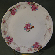 Lovely Vintage China Trivet, Red Roses, Not Marked