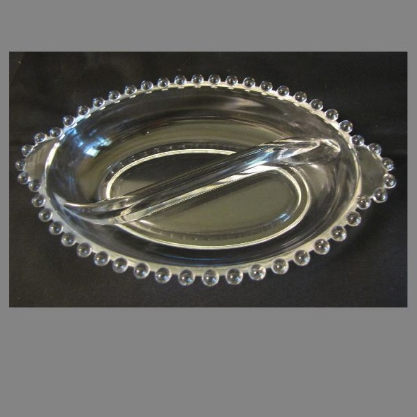 Collectible Imperial Glass CANDLEWICK Oval Relish Dish
