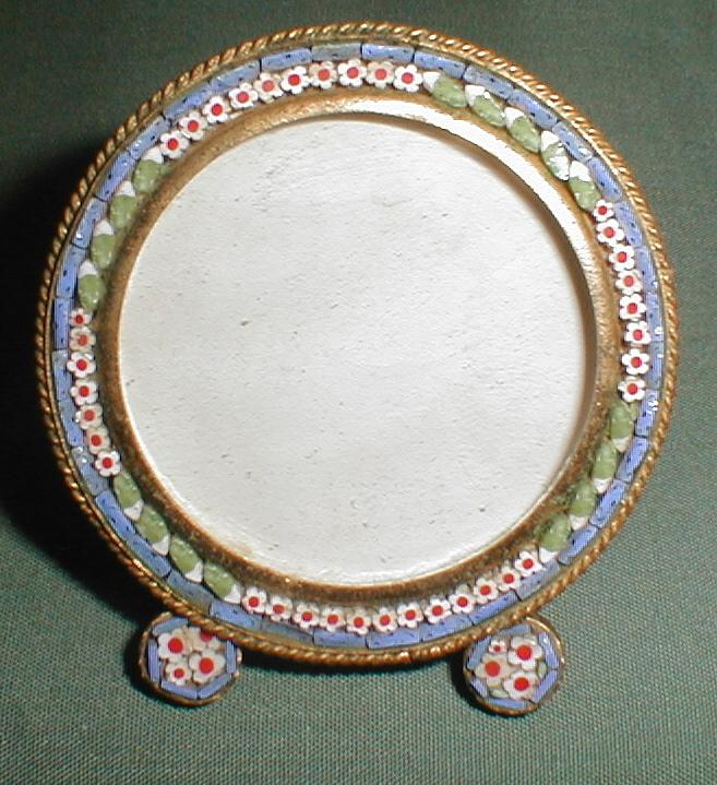 Small Round Italian Micro-Mosaic Photograph Frame