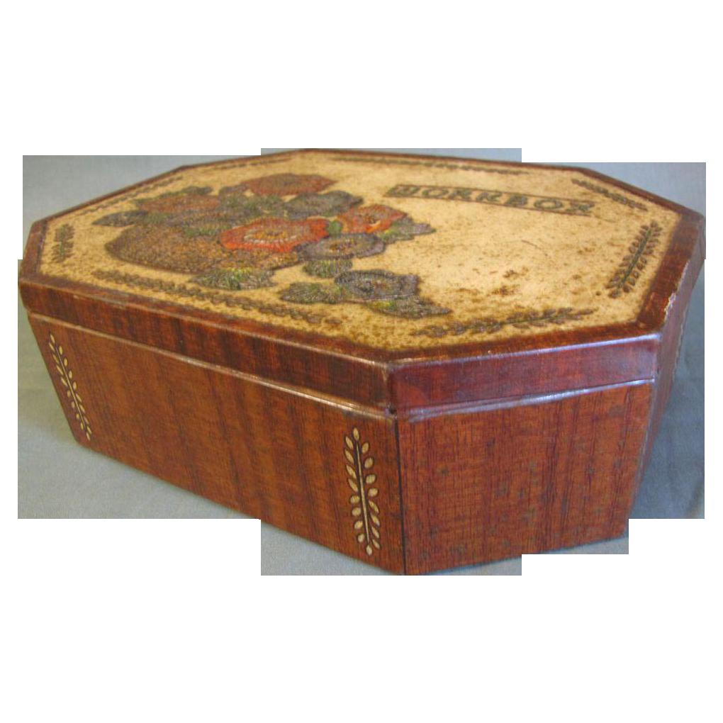 Vintage British Biscuit Tin, Sewing WORKBOX