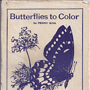 "Vintage Ideal School Supply ""BUTTERFLIES To Color"" by Penny Ross"