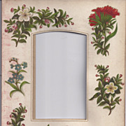 Page (Mat) from Victorian Photograph Album, CDV, Florals