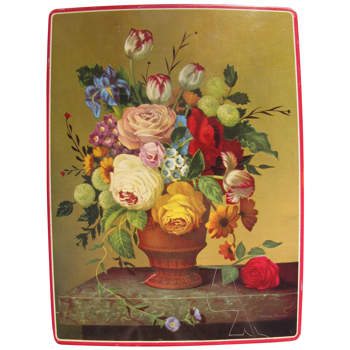 Lovely Floral Biscuit Tin, Gray Dunn, Scotland