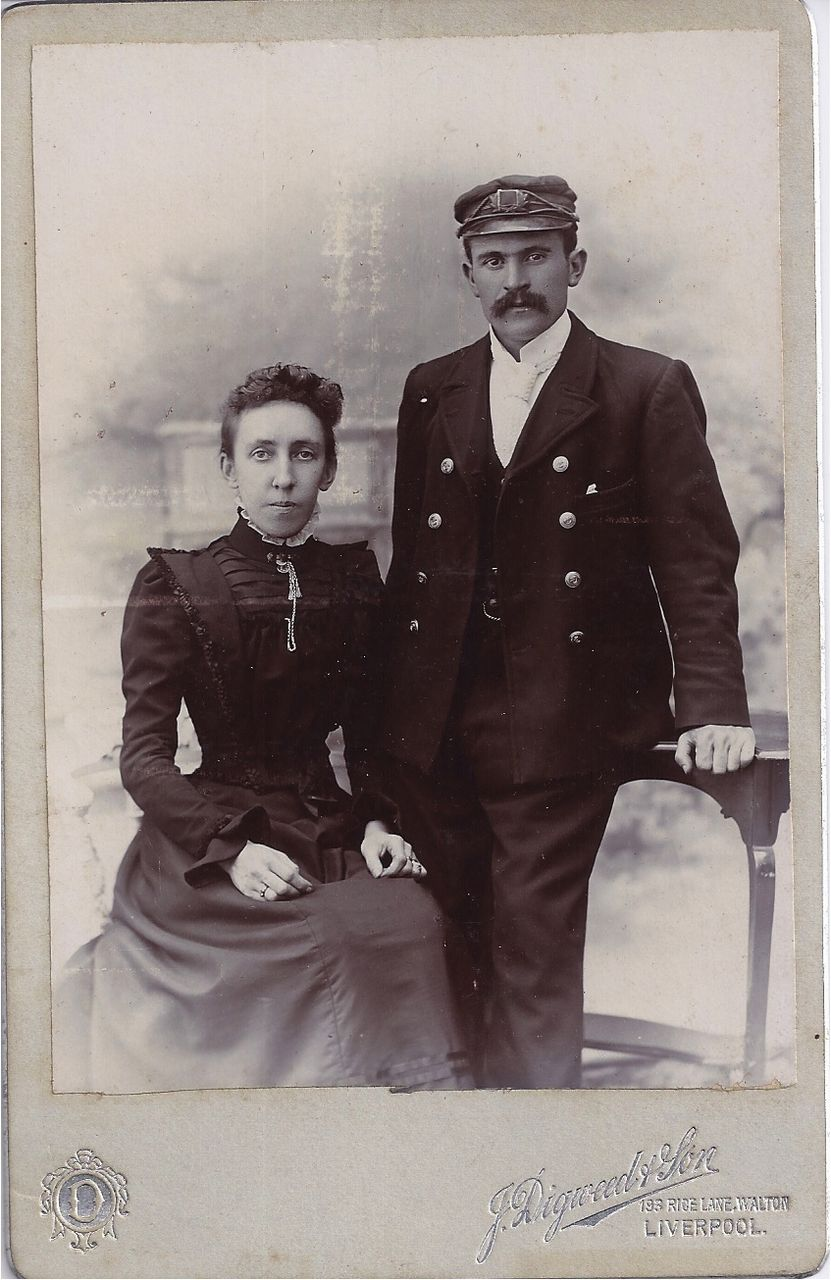 Victorian Cabinet Photograph of Couple, Man in Uniform