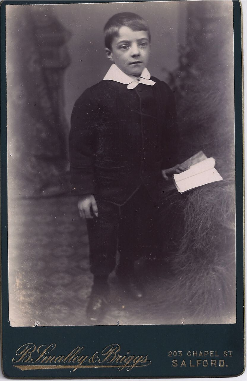 Victorian Cabinet Photograph of a Young Man in Victorian Dress