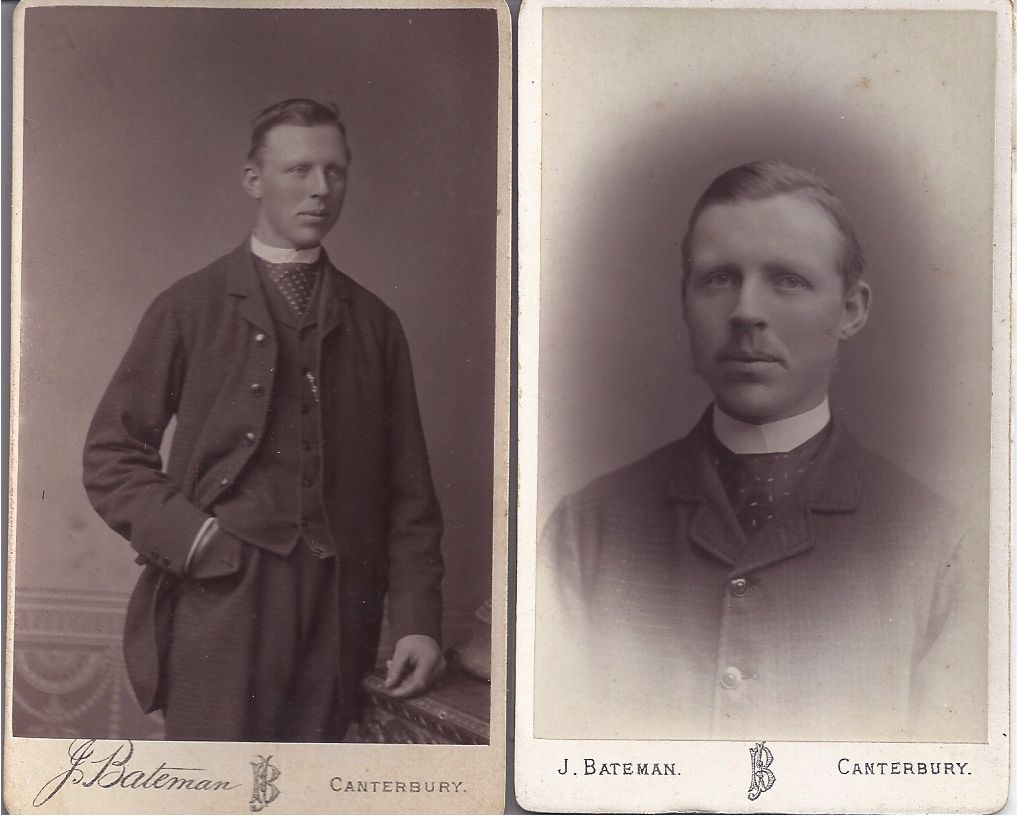 Two Victorian Photograph Carte De Visite Cards, Young Clergy
