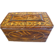 "Large Faux Wood Toffee Tin, Stationary Box, Hall's ""State"" Toffee"