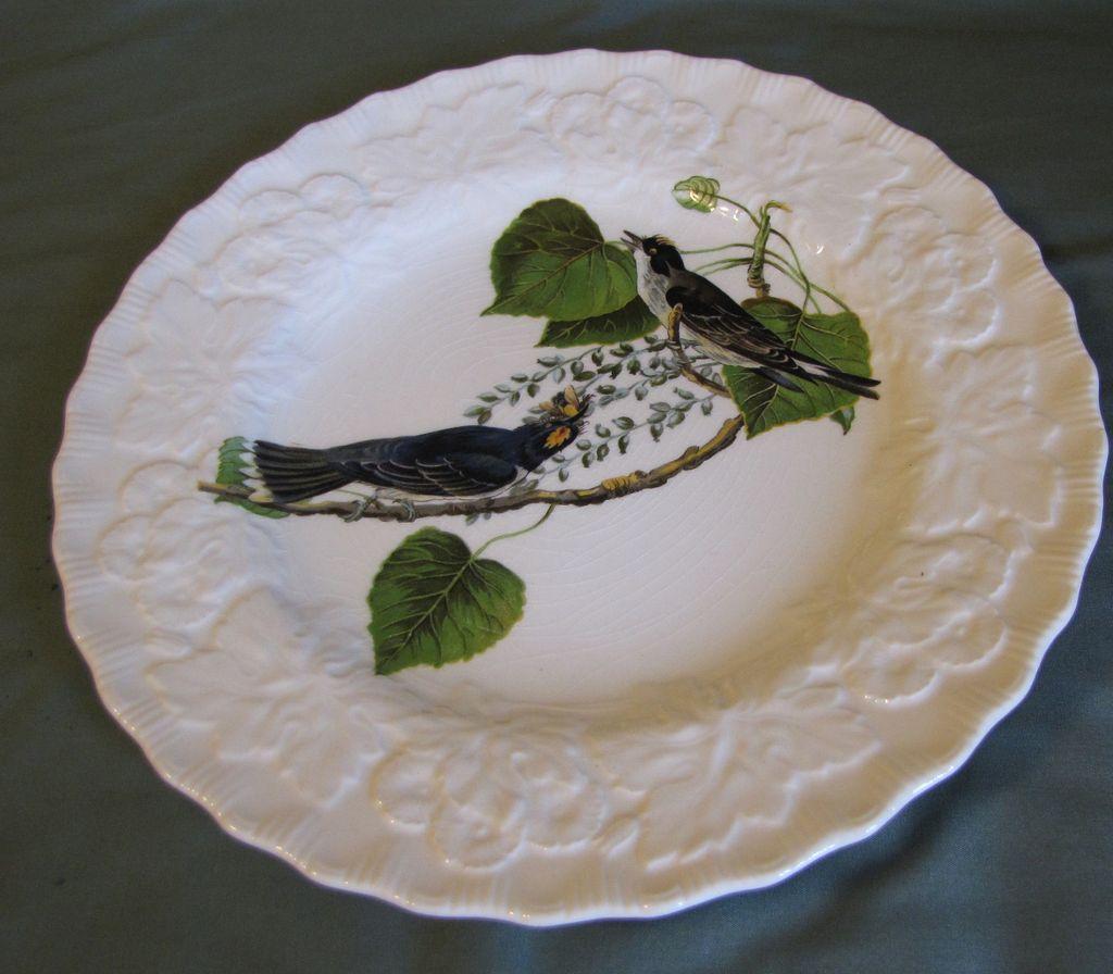 "Lovely Alfred Meakin Audubon 9"" Plate KINGBIRD"