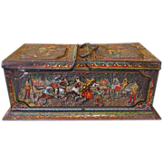 Early Huntley & Palmers Biscuit Tin, MOSAIC, circa 1901