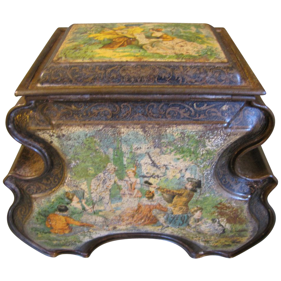 Circa 1895 British Biscuit Tin, DRESDEN, Huntley & Palmers