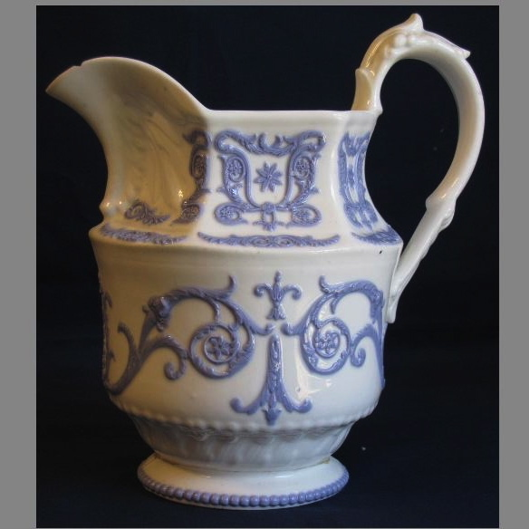 Lovely Porcelain Milk Pitcher, Raised Lavender Design