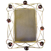 Lovely Silver Plated Wire & Marble Table-Top Photo Frame
