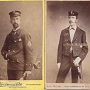 Two Carte-de-Visite Photographs, Men in Uniform
