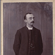 Cabinet Photograph of a Young Man, Priest W/ Glasses
