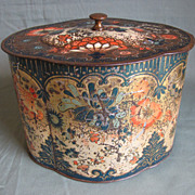 Rare 1902 Peek Frean Biscuit Tin, DERBY, Tea Caddy