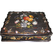Absolutely Gorgeous Papier Mache Ladies Lap Desk with MOP