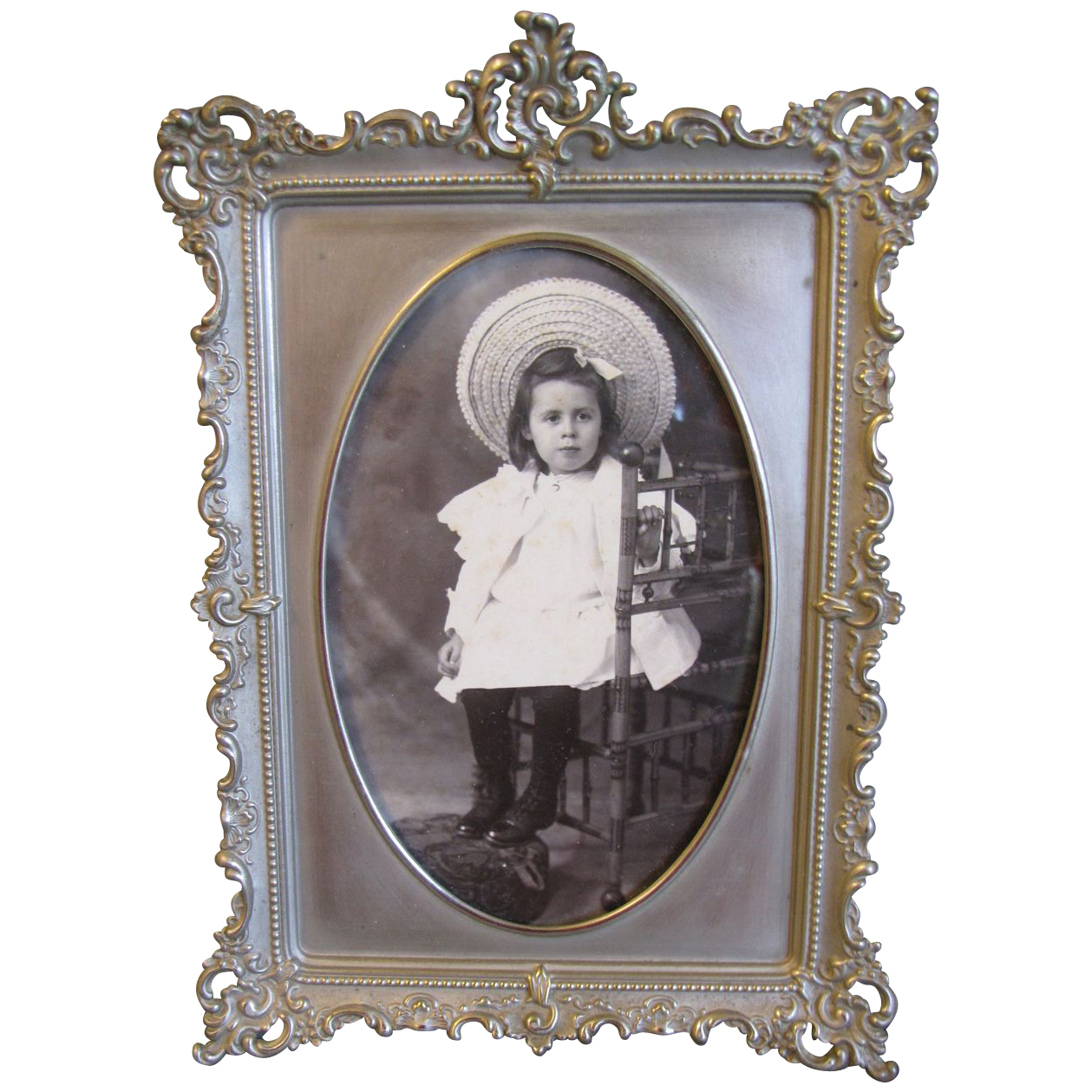 Lovely White Metal Rectangular Photograph Frame