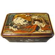 1930's Dutch Biscuit Tin with Kittens, Henriette Ronner