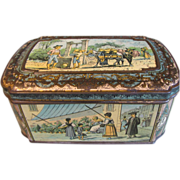 Rare Circa 1887 British Biscuit Tin Huntley & Palmers SPANISH
