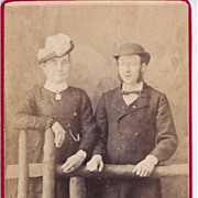 Early Carte-de-Visite of Couple, Man & a Woman