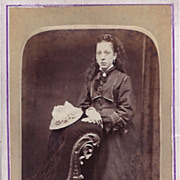 Early Carte-de-Visite, of Young Woman in Victorian Dress