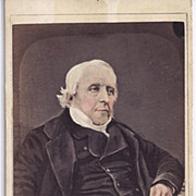 Early Carte-de-Visite Of Stately White-Haired Gentleman, Tinted