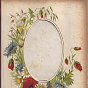 Page From Small Victorian Photograph Album, CDV Opening