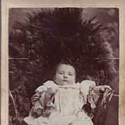 Cabinet Photograph of a Baby, Fancy Ruffled Dress