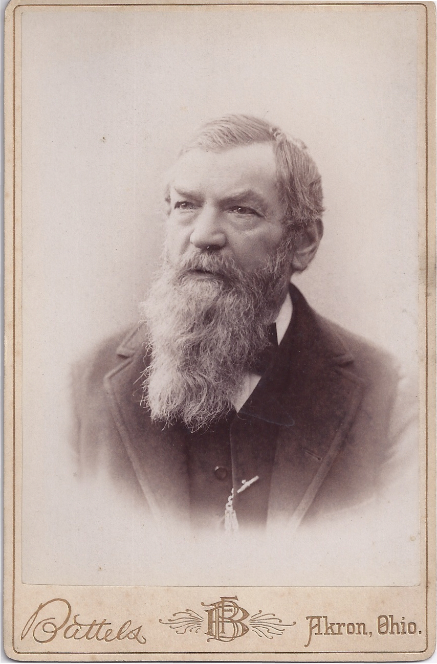 Victorian Cabinet Photograph Card of Older Gentle, Great Beard
