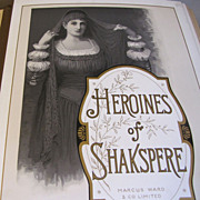 "Lovely Victorian Photo Album, ""Heroines of Shakespeare"""