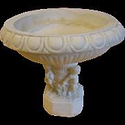 Lovely Vintage Alabaster Compote, Cupid Base
