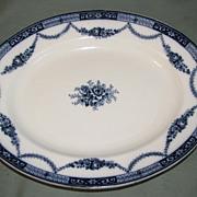 Lovely Flow Blue Platter, ALEXANDRA, S. Hancock & Sons