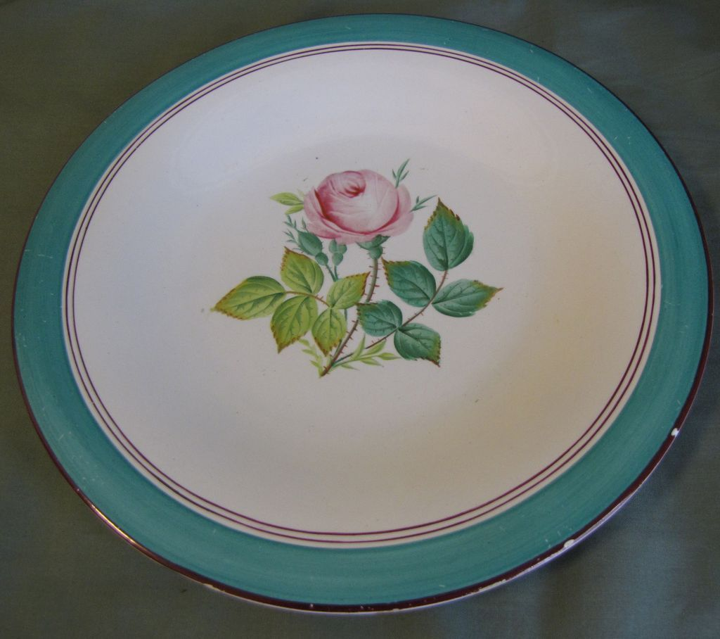 Lovely Dessert Plate, Botanical, Pink Rose