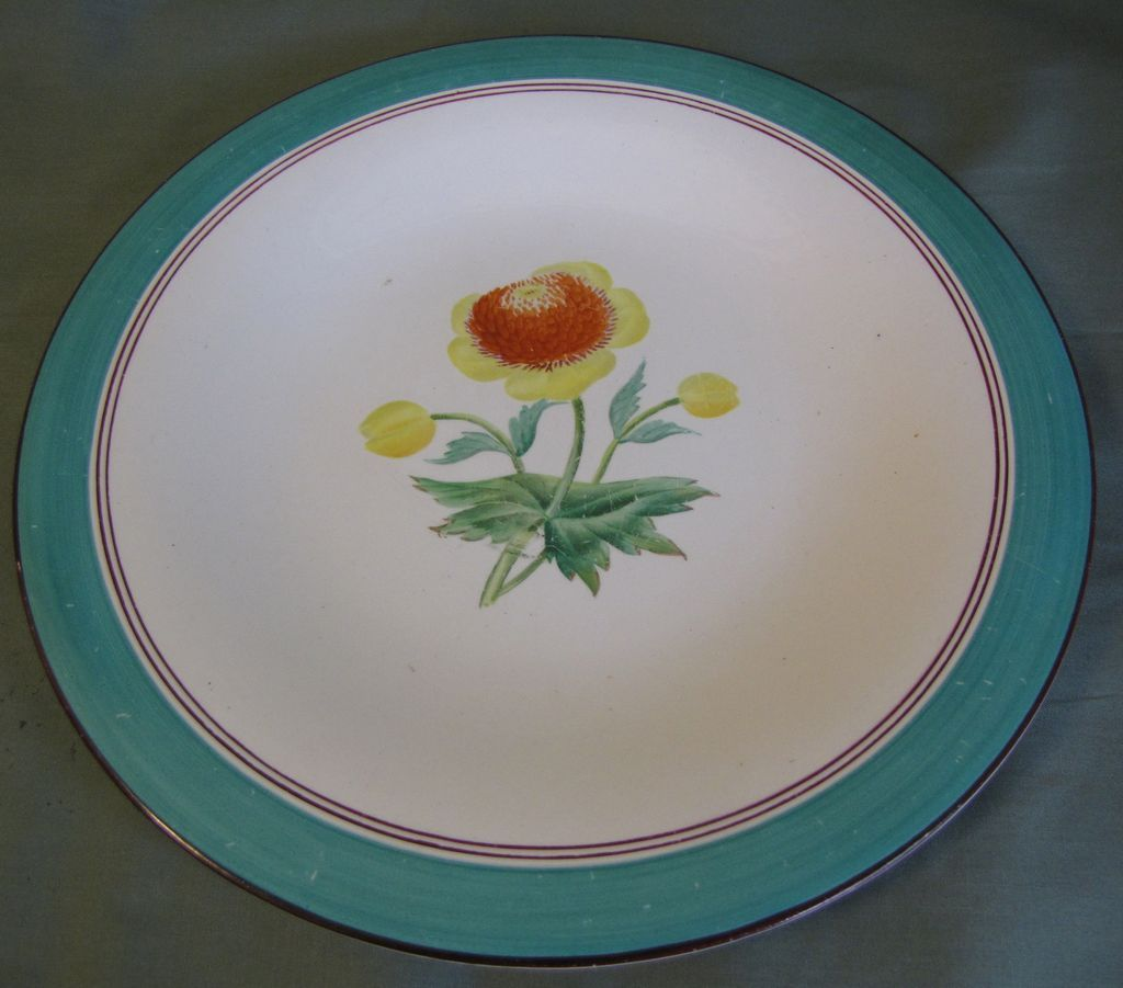 Lovely Botanical Dessert Plate, Sunflowers