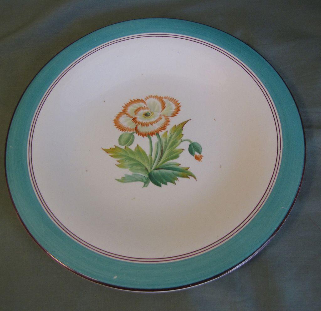Lovely Botanical Dessert Plate, Fringe Flowers