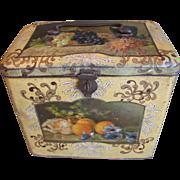 Large Vintage Bekkers Biscuit Tin, Still Life Images