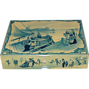 Circa 1897 British Biscuit Tin, Huntley & Palmers, DELFT