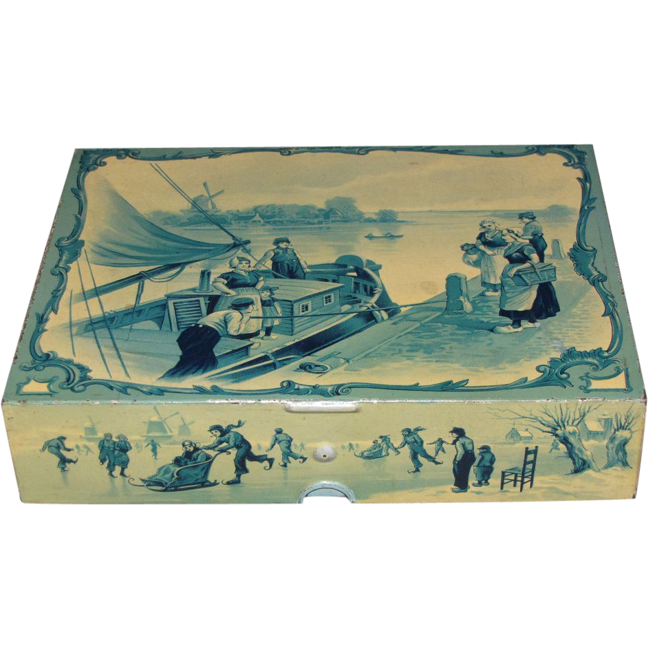 Circa 1897 British Biscuit Tin, Huntley & Palmers, DELFT